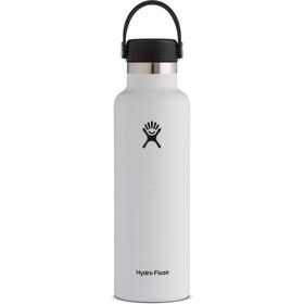 Hydro Flask Standard Mouth Bidón con Tapa Estándar Flex 621ml, blanco